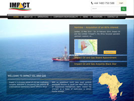 Impact Oil and Gas Web Design