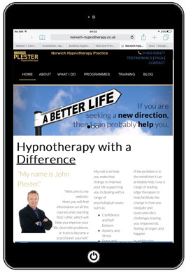 Website re-design for a hypnotherapy practice