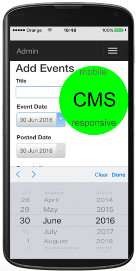 Mobile friendly content Management System