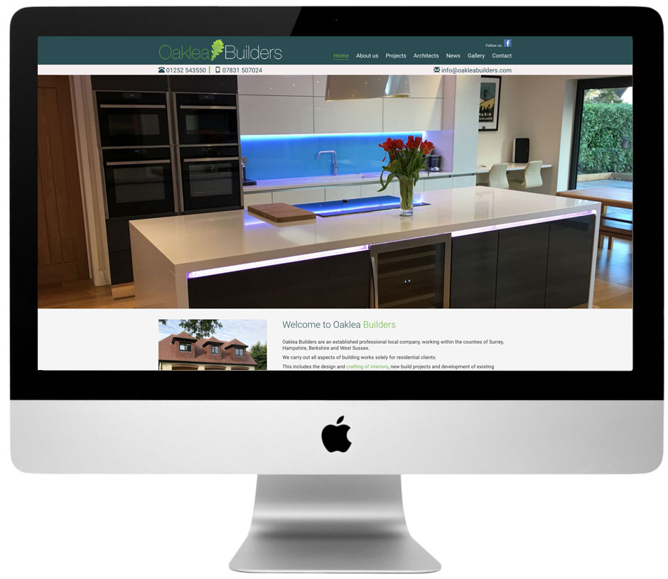 Building Contractors website development